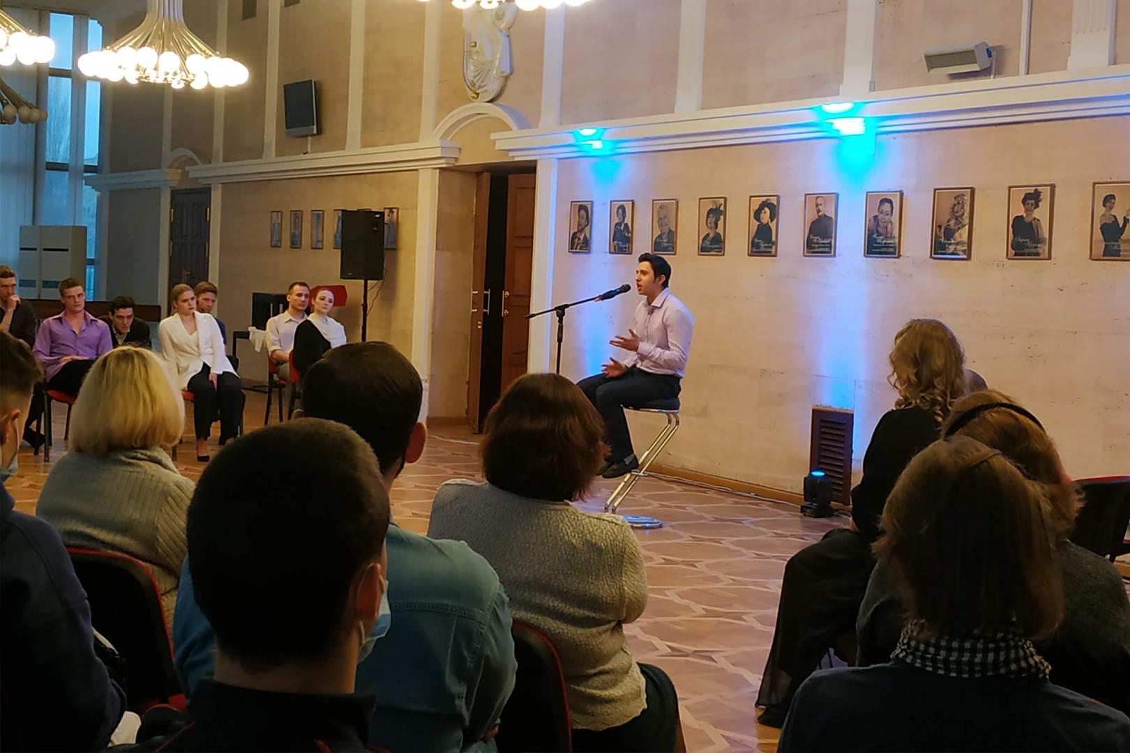 Состоялась первая в этом году встреча в рамках проекта «Культурная среда», посвящённая творчеству Ивана Вырыпаева.